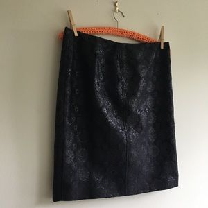 Prada Jacquard Pencil Skirt